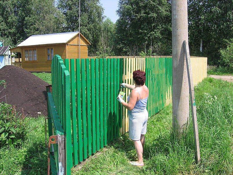 Зеленый забор своими руками фото
