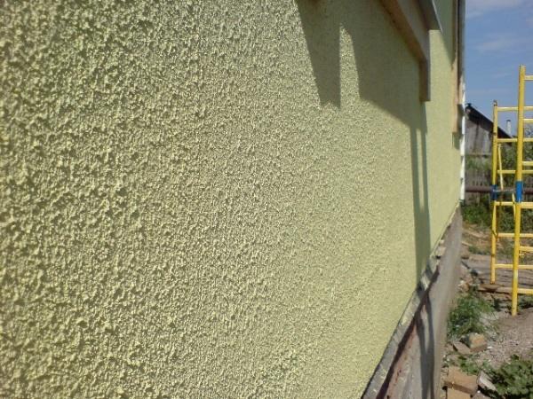 Пример хорошо сделанной стены из силикатной штукатурки