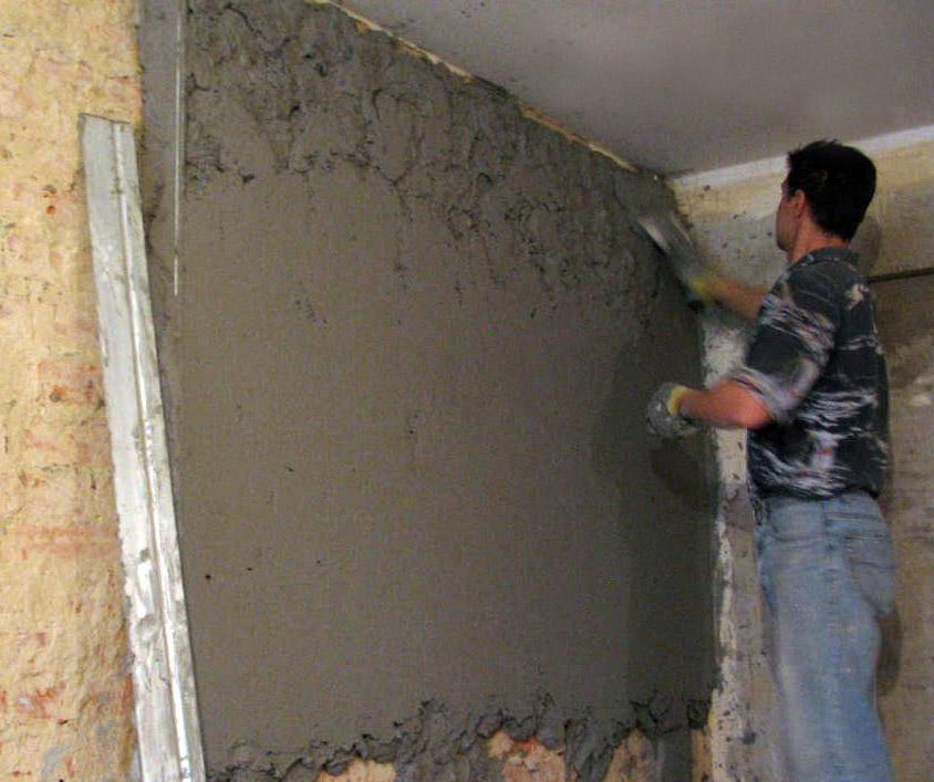 Цементный раствор для штукатурки стен фото