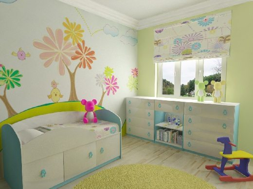Покраска детской комнаты своими руками