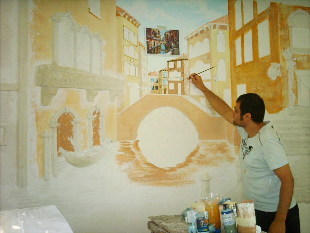 Краски стена роспись стен