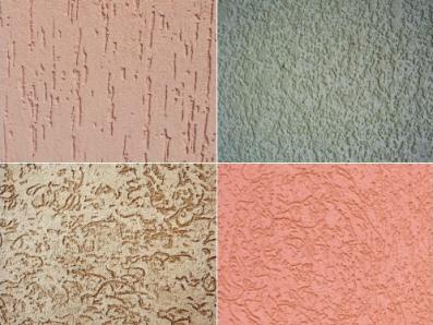 Различные варианты расцветки и рельефа для отделки домов