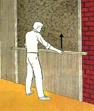 Схема оштукатуривания стен по маякам