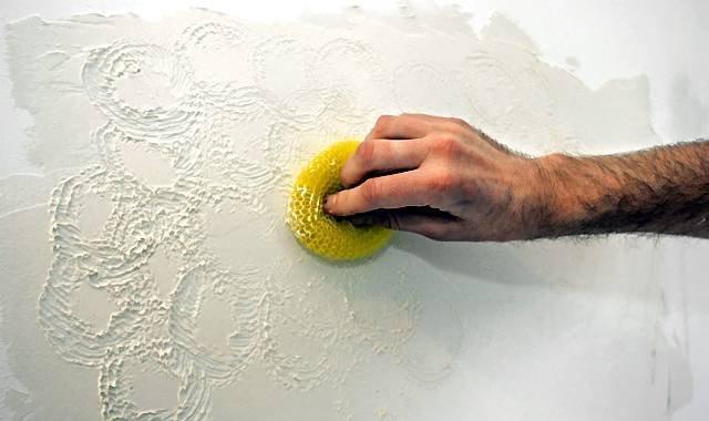 Декоративная шпаклевка потолка своими руками