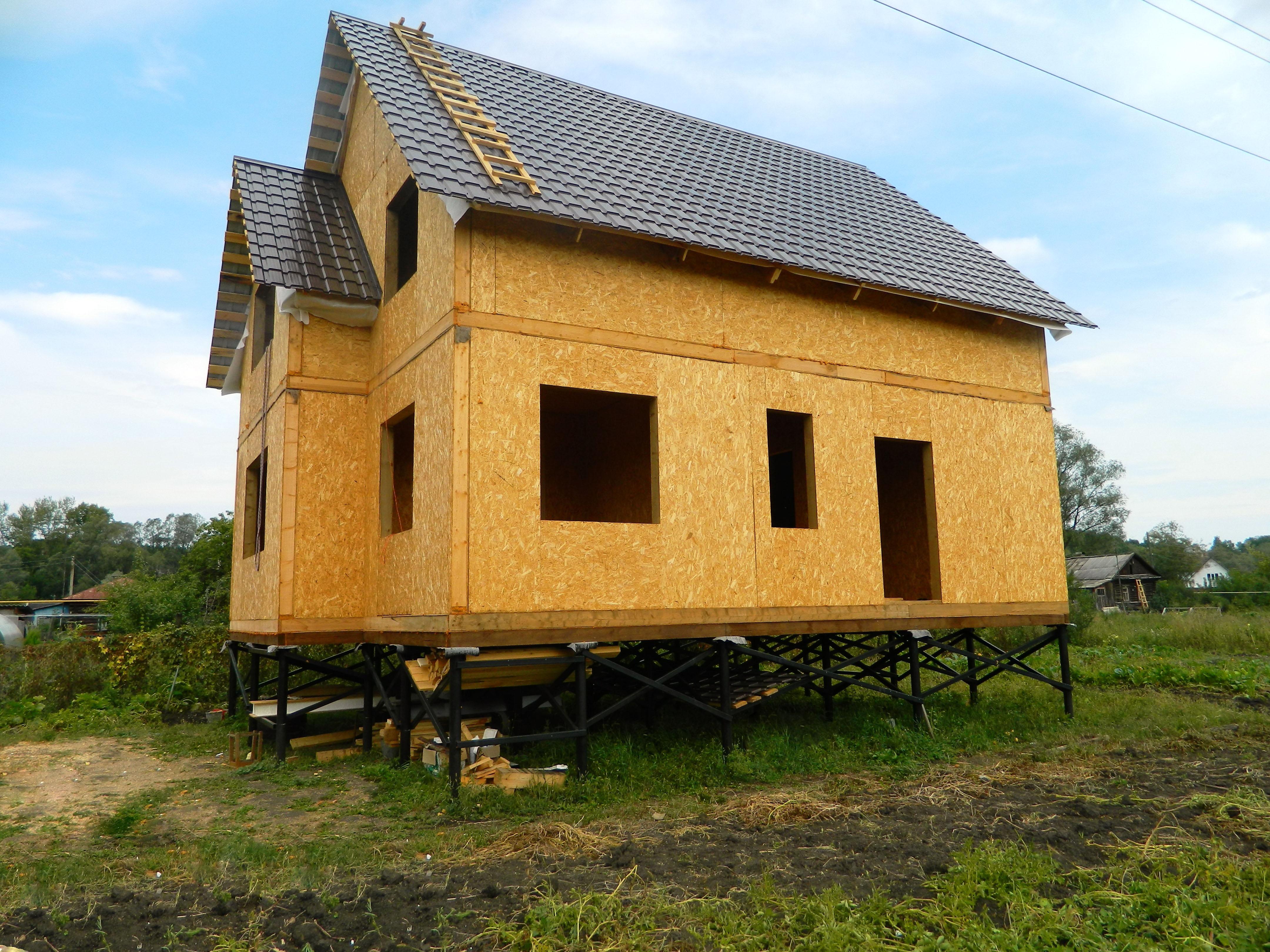 Построить дом на винтовых сваях