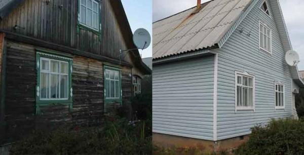 Так можно преобразить старый дом из дерева.