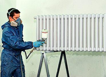 Окраска радиаторов отопления расчет