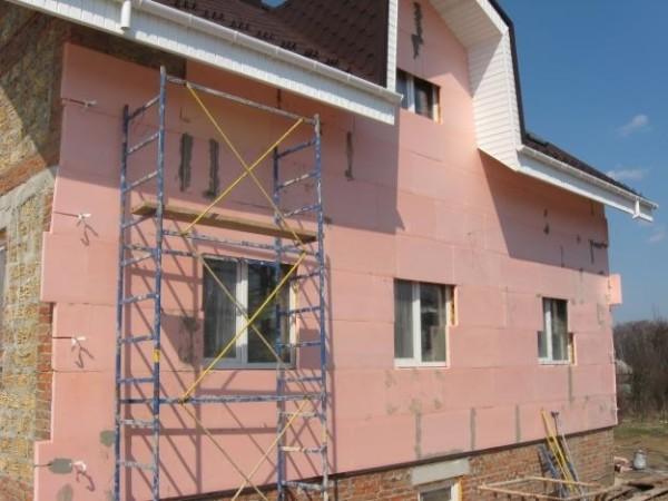 Теплоизоляция кирпичной постройки плитами экструзионного полистилора