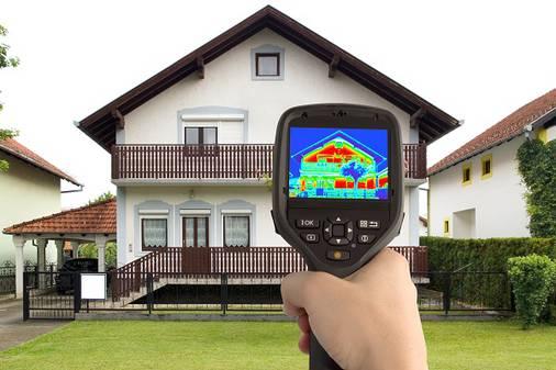 Тепловизор помогает оценить эффективность утепления фасада.