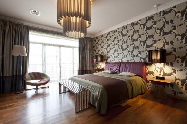 Цветы в современном стиле оформления спальни