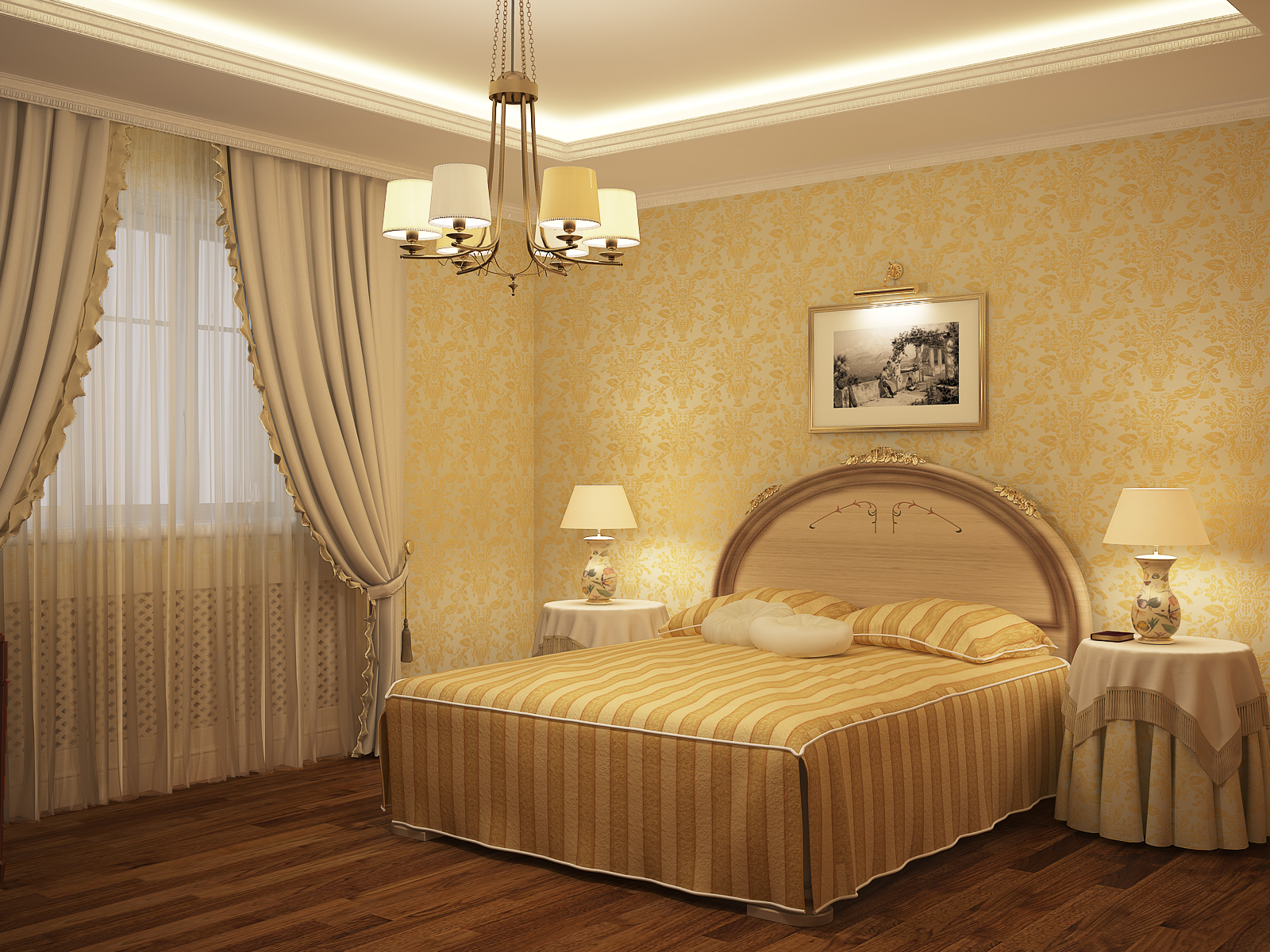 цвет обоев для спальни фото: