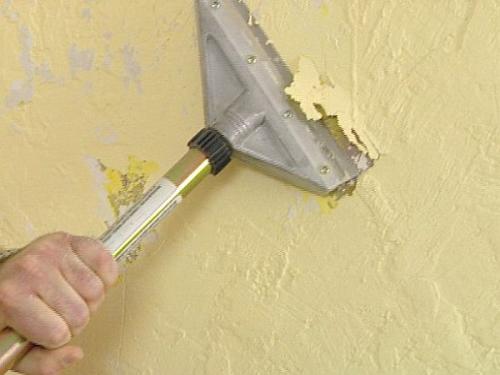 Удаление старого лакокрасочного покрытия скребком