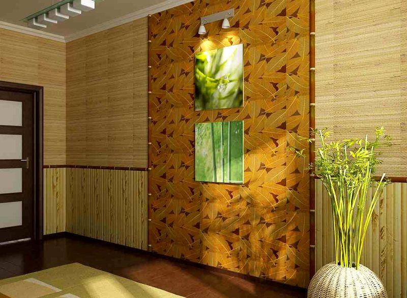 Обои бамбук в интерьере фото