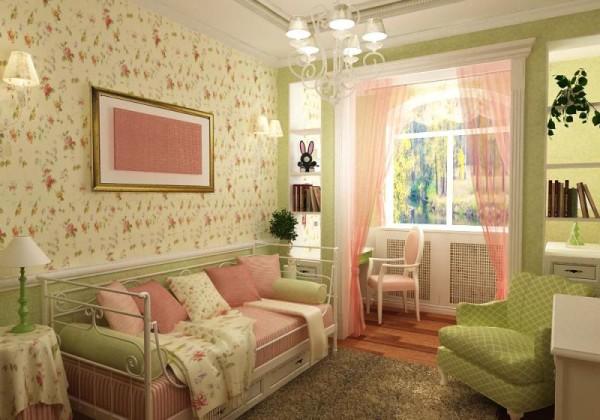 Вариант оформления женской спальни