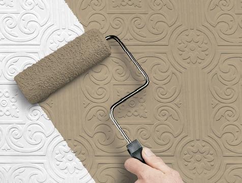 Виниловые покрытия стен с ярко выраженным рельефом