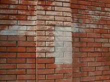 Высолы на стене.