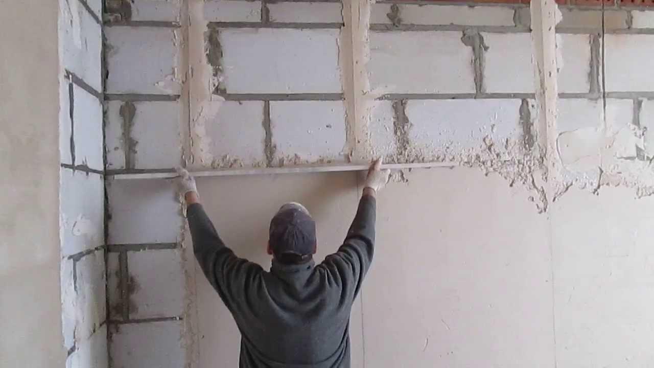 Выровнять стены своими руками без маяков