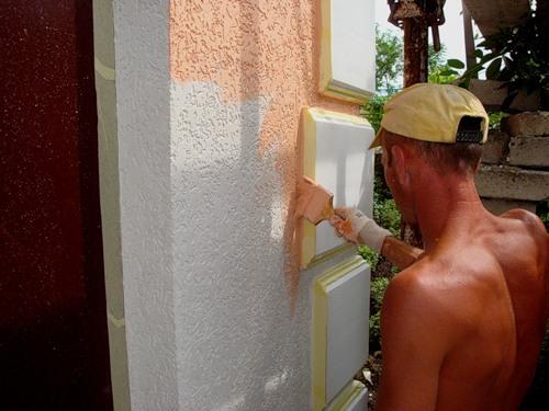 Завершающая отделка дома короедом своими руками