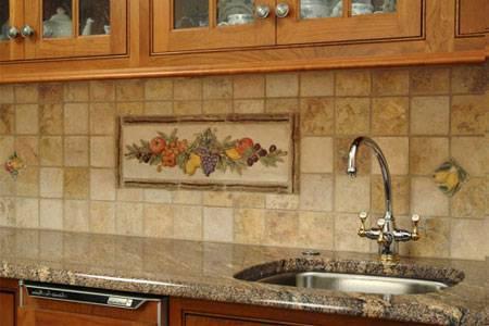 Кафельная плитка - отделка кухнив современном стиле