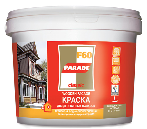 Акриловые краски – самый популярный вид составов для отделки деревянных фасадов во всем мире