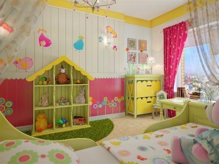 Акриловые краски в детской комнате