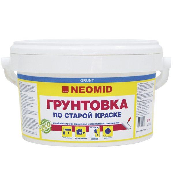 Акриловый грунт для окрашенных оснований от компании Neomid.