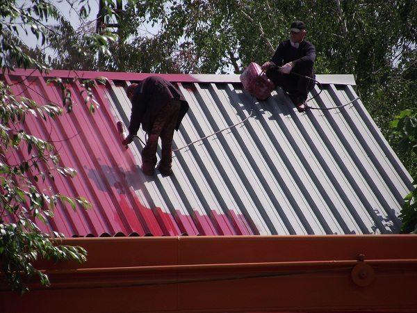 Актуальное применение краски: сурик железный используется для крыши.