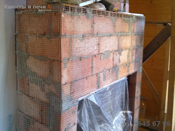 Армирование стенок камина