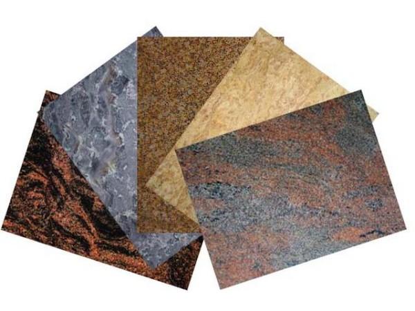 Ассортимент натурального камня.