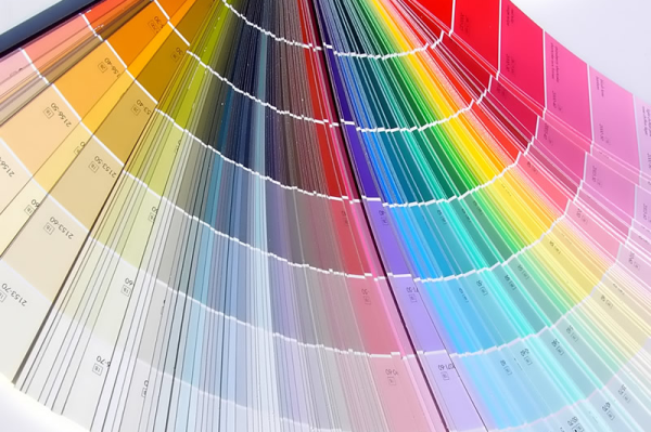 Ассортимент цветов, доступный в результате колерования