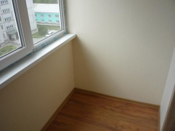 Балкон в гипсокартоне с последующей финишной облицовкой обоями