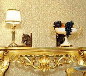 Бисерные обои в роскошном интерьере