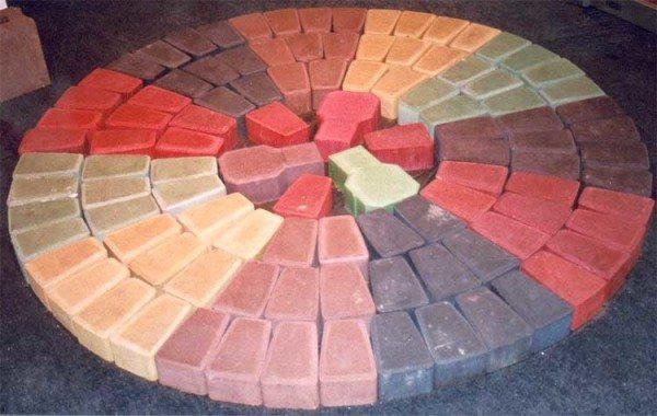 Благодаря применению пигментов структура бетона полностью принимает нужный цвет