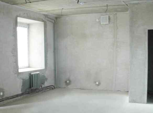 Черновая отделка помещения кирпичного дома