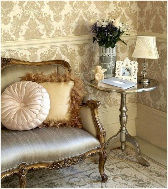 «Дамасские» орнаменты в гостиной