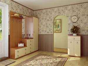 Даже в большой прихожей стараются применять только светлые обои, поскольку это помещение обычно не имеет естественного освещения в виде окон