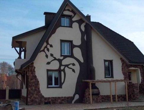 Декоративная отделка фасадов частных домов - своими руками позволит создать дом, о котором будут говорить далеко за его оградой