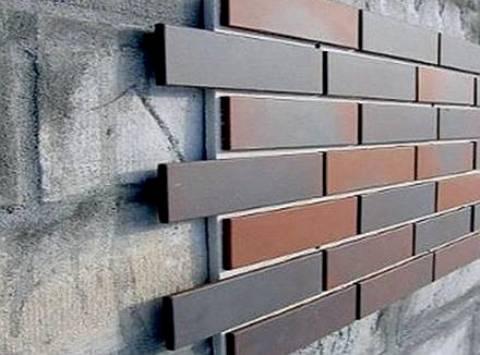 Декоративная отделка цоколя фундамента клинкерной плиткой