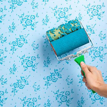 Фигурный валик для покраски стен фото наливной пол для чего
