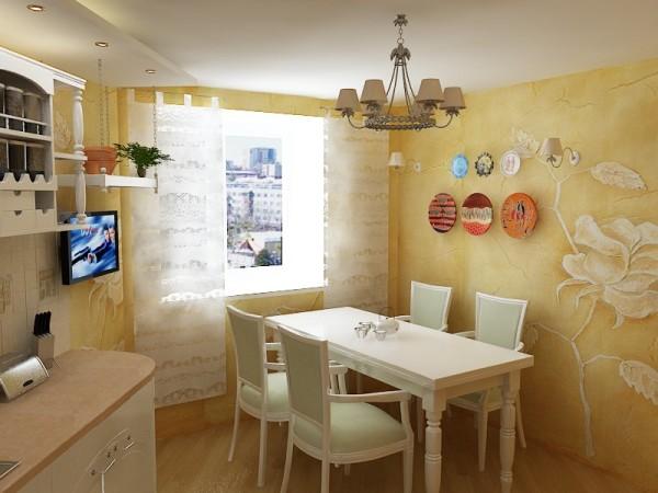 Декоративная штукатурка на кухонных стенах