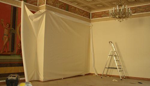 Декорирование стен текстилем