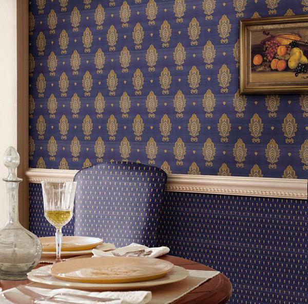 Декорирование стен виниловыми и текстильными обоями