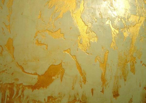 Декорирование стены с помощью краски
