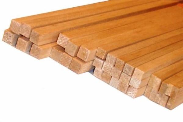 Деревянные рейки для сборки обрешетки