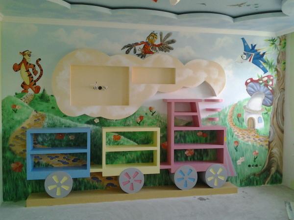 Детская комната, оформленная данным способом, подарит вашим детям сказку