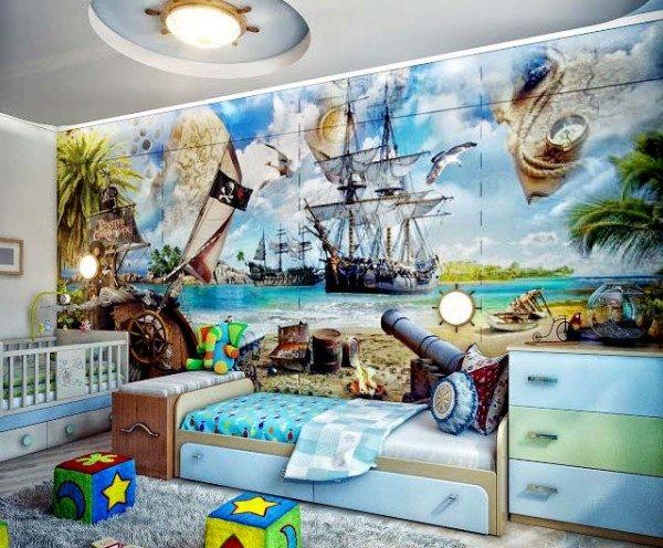 Детские обои для стен для мальчика на морскую тематику