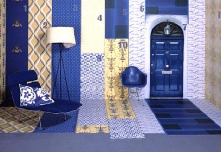 Дизайн помещения из десяти различных видов обоев