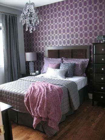 Дизайн спальни, выполненный в темных тонах