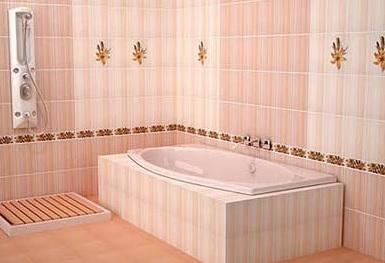 Дизайн ванной комнаты – керамическая плитка