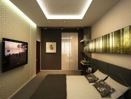 Длинные стены в узком помещении всегда должны быть светлыми